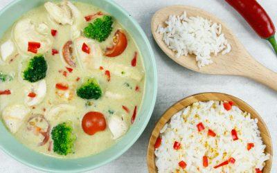 Thaise groene curry met rijst