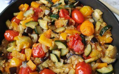 Vegetarische ratatouille met veel groente